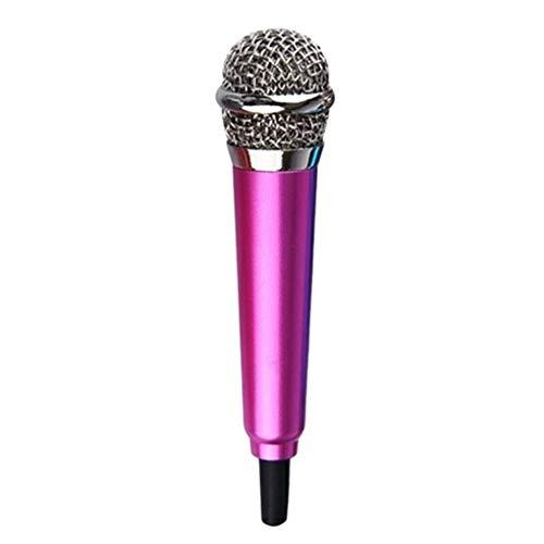 Busirde 3,5 mm estéreo Estudio portátil PC portátil micrófono Portátil Mini Mic del discurso de Audio Micrófono Móvil PC portátil Accesorios de Escritorio (Rose Red)