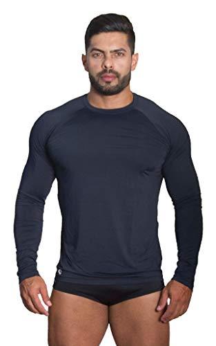 Camiseta Térmica Polo Sport Segunda Pele Uv Unissex Preto (M)