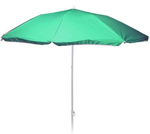 matrasa Sonnenschirm REFLEXA mit UV-Schutz UPF 50+ Platzsparend Knickgelenk Höhenverstellbar 180 cm Grün