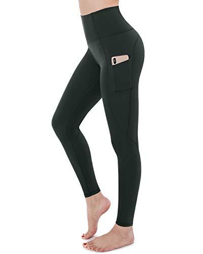 STYLEWORD - Pantalones de yoga para mujer con bolsillos, cintura alta, pantalones de entrenamiento para correr - - XXL