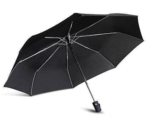 Parasol Parapluie Résistant Au Vent 3 Pliant Automatique Parapluie Pluie Femmes Portable Lumière Durable Parapluies Pluie pour Hommes Cadeau Voyage Parasol