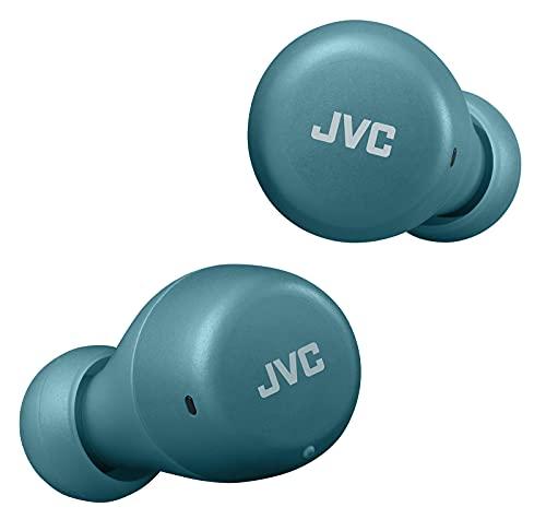 JVC Gumy Mini True Wireless Earbuds [Amazon Exclusive Edition] Auriculares Inalámbricos, Bluetooth 5.1, ResistenciaAgua (IPX4), Gran Duración de la Batería (hasta 15 Horas) - HA-Z55T-Z (Verde)