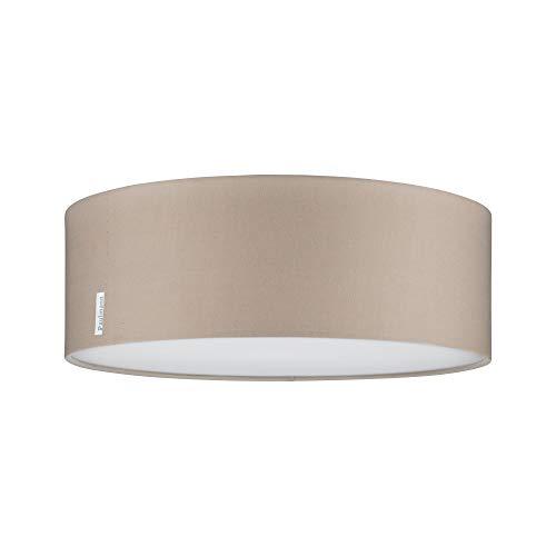 Paulmann 70952 Deckenleuchte Mari max. 2x20 Watt Deckenlampe Beige Wohnzimmerlampe Stoff Flurlampe E27