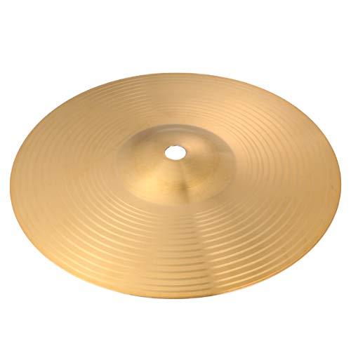 Holibanna 8 Zoll Crash Becken für Schlagzeug Messing Trommel Becken Messing Crash Fahrt- Hut Becken Glocke Becken für Anfänger Percussion Instrument (Golden)