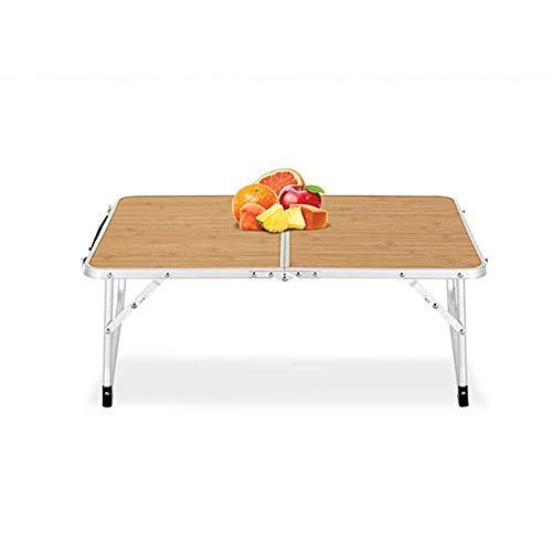 JCCOZ-T Tavolo pieghevole per barbecue da esterni, ultra leggero, ultra sottile, in legno di venatura da picnic, tavolo da giardino portatile T