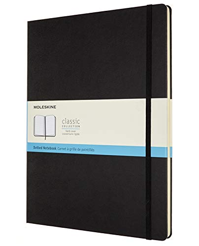 Moleskine Classic Notebook, Hard Cover, XXL (8.5' x 11') Dotted, Black, 192 Pages
