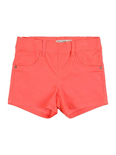 NAME IT Mädchen NMFSALLI TWIBATINNA Shorts, Neon Coral, 110
