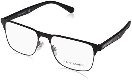 Emporio Armani 0EA1061 Monturas de gafas, Matte Black/Matte Gunmetal, 55 para Hombre