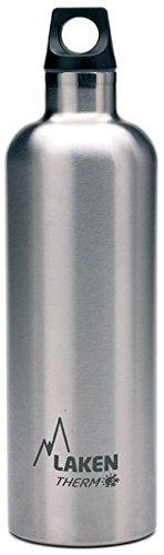 Laken Futura Botella Térmica de Acero Inoxidable 18/8 y Aislamiento de Vacío con Doble Pared, Plateado, 750 ml