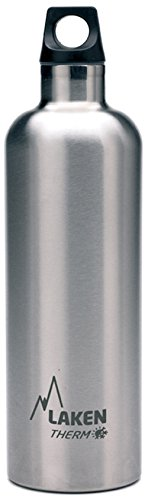Laken Futura Thermo, Borraccia, Argento (Plain), 750 ml
