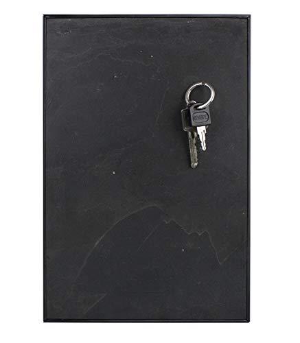 Steinmine - Designmanufaktur Magnetisches Schlüsselbrett, Echt Schiefer Schlüsselboard 30cm x 20cm(Schlüselhalter Magnet) (Dark Grey)
