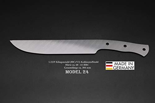 Rohling Messer Model 24 / 304mm Poliert Messerbau Messerstahl Messerklinge Klingenrohling Jagdmesser