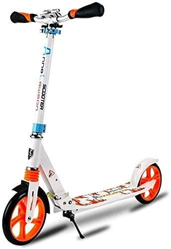 BAIRU monopatín Patinete Scooter de Patada Plegable | Scooter de cercanías Ajustable con Freno de Guardabarros Trasero | Scooters de la Ciudad con Ruedas Grandes para niños, Adolescentes y Adultos