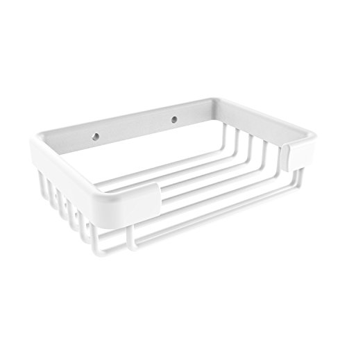 Allied Brass BSK-30SR Rectangular Soap Shower Basket, Matte White