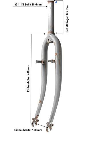 28 Zoll Fahrrad Starr Gabel 1 1/8 Zoll Trekking City Bike Canti Sockel Fork roh