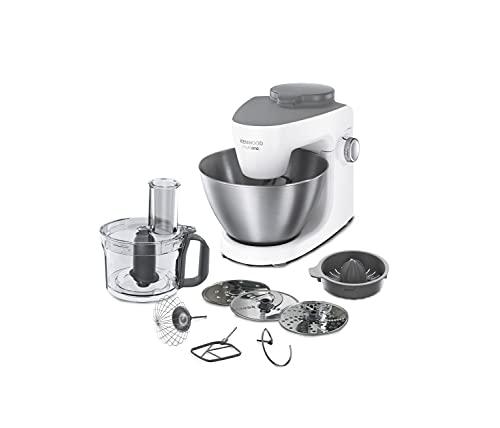 Kenwood KHH300WH Impastatrice Planetaria MultiOne, Robot da Cucina Mixer, con Food Processor e Spremiagrumi, 1000 W, 4.3 Litri, Acciaio, Plastica, Bianco