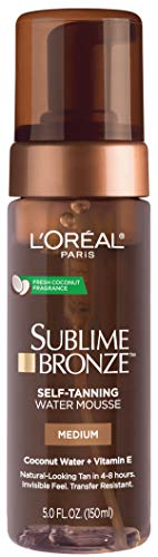 L'Oreal Paris Skin Care Sublime Bronze Hydrating Self-Tanning Water Mousse, 5 Fluid Ounce