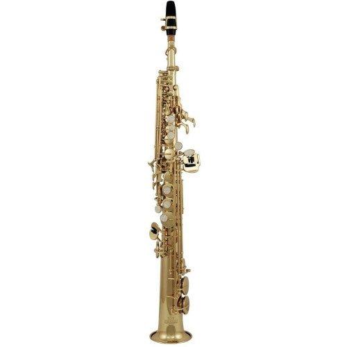 Roy Benson Bb Sopran Saxophon MOD.SS-302 gerade Form lack., inkl. leichtem Rechtecketui