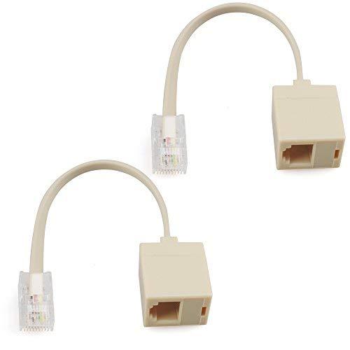 2 line phone telephone splitter wiring diagram amazon com urbest 2 pcs rj45 8p4c plug to rj11 6p4c female m f  rj45 8p4c plug to rj11 6p4c female
