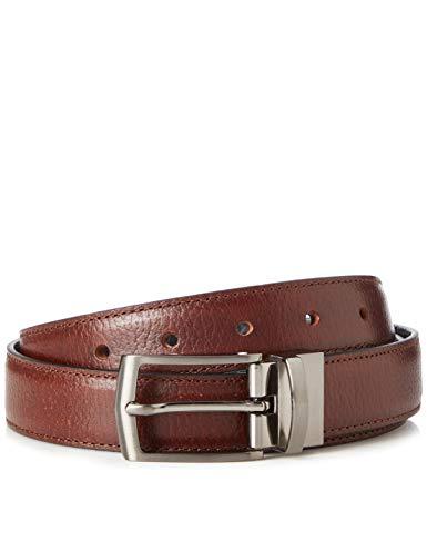 Marca Amazon - find. Cinturón de Cuero Hombre, Negro (marrón), M, Label: M