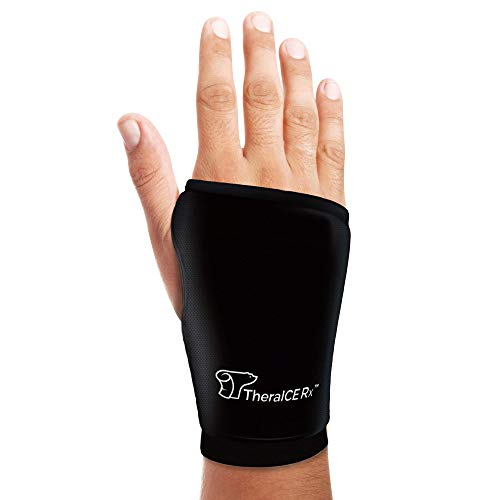 TheraICE Rx Wrist Ice Pack - Soft Gel Ice Pack Wrap for Either Wrist for Hot & Cold Hand Therapy Relief for Arthritis, Tendonitis, Carpal Tunnel Pain, Hand Injuries, Swelling & Bruises - One Size