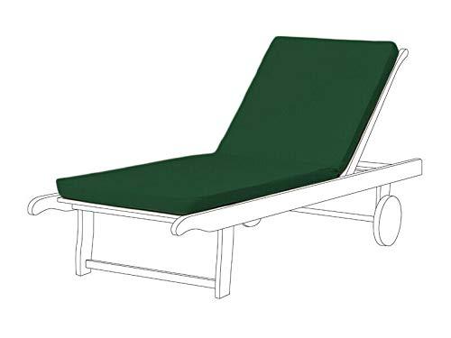 Cojín reclinable para silla Resol Master & Marina para tumbona de repuesto para interior y exterior (paquete de 1 unidad), color verde