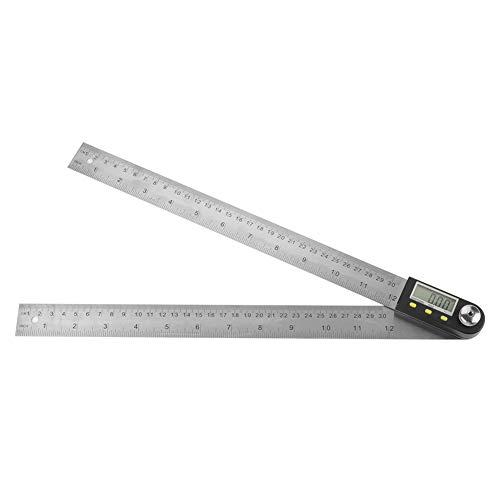 Regla del transportador, ángulo de acero de Digitaces de acero de la medida de la lectura del transportador de la regla de acero inoxidable