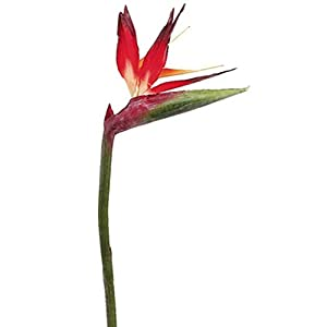 31″ Large Red Bird of Paradise Spray Tropical Silk Wedding Flowers Decor Artificial ART1