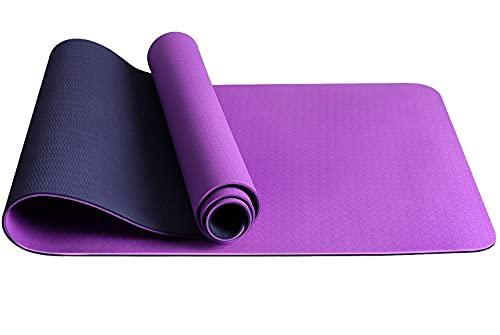 Jojobnj Esterilla de Yoga Antideslizante, Esterilla de Gimnasia TPE con Bolsa de Almacenamiento, Esterilla de Fitness para Yoga, Pilates, Fitness, Entrenamiento y Gimnasia (180 x 60 x 0,6CM)