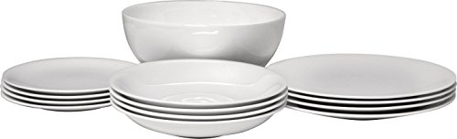 Learn More About AlessiAll-Time Table Set Composed of Four Dining/Side Plates, Soup Bowls, One Sal...