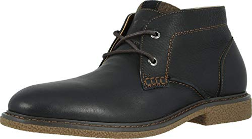 Dockers Mens Greyson Leather Casual Chukka Boot, Black, 10.5 M