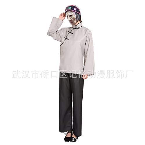 DBG 2020 New Lustige chinesischen Mythen und Legenden Meng Po Kleidung Hanfu Straße Performance Kleidung für Partei Halloween Straßentheater,S
