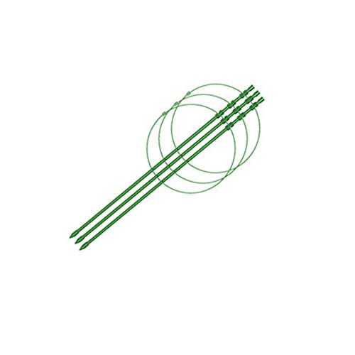 HDGZ 10 Ensembles Tuteur Plantes Baguettes, Plastique, diamètre 7 mm, Accroche-Tuteurs pour Tomates Arbres Tuteurs de Plantes Attache et So(45cm Long)