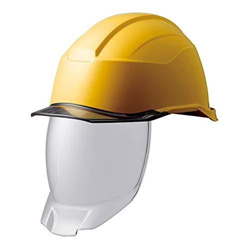 ミドリ安全 ヘルメット 作業用 PC製 シールド面 クリアバイザー SC21PCLS RA3 KP付 侍II イエロー スモーク