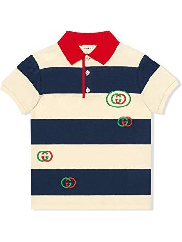 Gucci Luxury Fashion Junge 591434XJB3N4123 Blau Baumwolle Poloshirt | Frühling Sommer 20