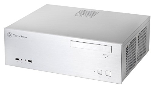 SilverStone Technology Aluminum Front Panel and SECC Body Micro ATX HTPC Computer Case with 2X USB 3.0 Front Ports in Silver CS-GD04S-3.0-USA