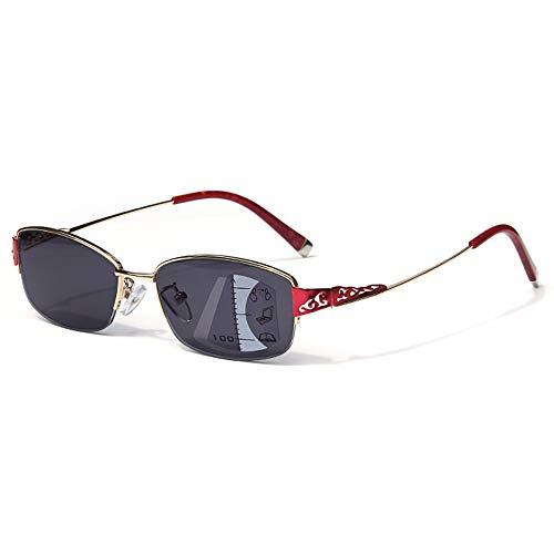 CXNEYE Gafas De Sol Fotocromáticas De Moda UV400 para Mujer, Progresivas, Multifoco, Transición, Miopía E Hipermetropía, Gafas De Lectura De Doble Propósito