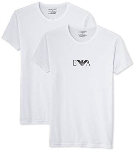 Emporio Armani, T-Shirt Uomo, set da 2 pezzi, Bianco, L