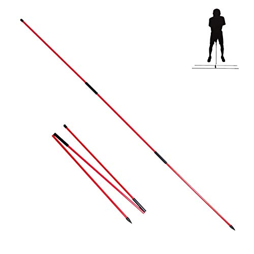 HOW TRUE 2 Pack Golf Alignment Sticks, 3 Sections Foldable Practice Rods Training Aids