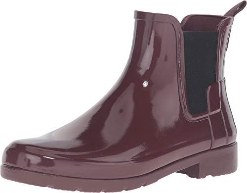 HUNTER Womens Original Refined Chelsea Gloss Wellingtons Ankle Rain Boot - Dulse - 11