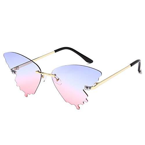 Qilo Mariposa Retro Gafas de Sol polarizadas for Las Mujeres UV400 Protección de conducción al Aire Libre (Color : Style b)