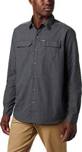 Columbia Silver Ridge 2.0 Camisa de manga larga para hombre, Gris (Grill),...