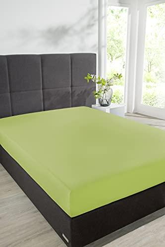 Schiesser sábana bajera ajustable, verde claro, 180 x 200 cm