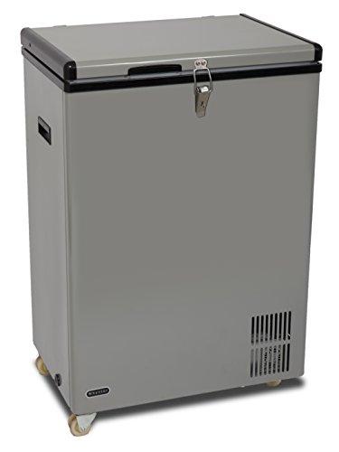 Whynter FM-951GW 95 Quart Wheeled Door Alert Option Portable Fridge AC 110V/ DC 12V True Freezer for Food Truck, Car, Home, Camping, RV-8°F to 50°F, One Size, Gray