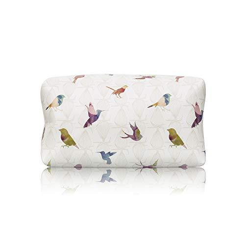 TaylorHe Waterdichte Grote Capaciteit Potloodhouder Make-up Pouch Make-up Bag Cosmetische Case Kleurrijke Vogels Vogels
