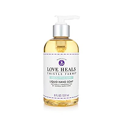 Thistle Farms | Hand Soap with Organic Coconut Oil & Shea Butter | Infused with Pure Essential Oils | Handcrafted by Women Survivors | 8 fl oz. (Eucalyptus Mint)