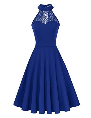 Damen Kleid Abendkleid Schulterfreies Cocktailkleid Jerseykleid Skaterkleid Knielang Elegant Festlich Asymmetrisches Partykleid