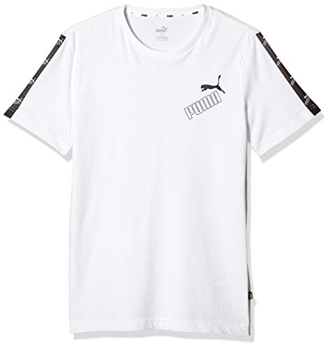 Puma Amplified Tee T-Shirt Homme Puma White FR : L (Taille Fabricant : L)