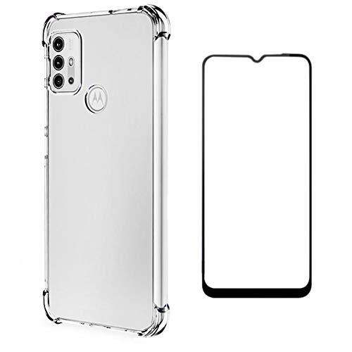 Kit Capa Anti Impactos Motorola Moto G10 + Película 5D Nano Cerâmica Cobre Toda Tela [Coronitas Acessorios]