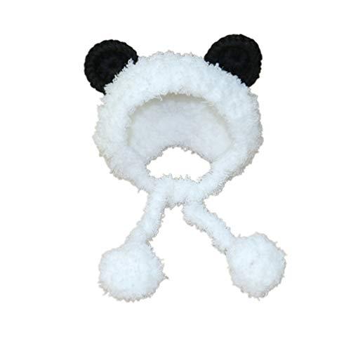 Balacoo Disfraz de oso panda para perro, calentador de cuello, orejas, protector de cabeza para gatos y perros, suministros para mascotas, talla S